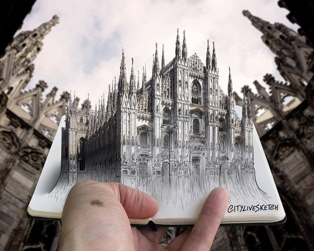 10-Milan-Cathedral-Pietro-Cataudella-3D-Architectural-Urban-Moleskine-Sketches-www-designstack-co