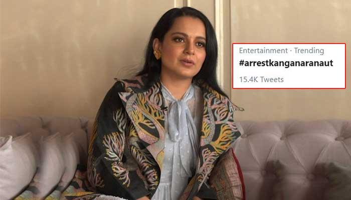 Kangana Ranaut Latest News in Hindi, Arrest Kangana Ranut Twitter Hastag Trending, Bollywood News Breaking