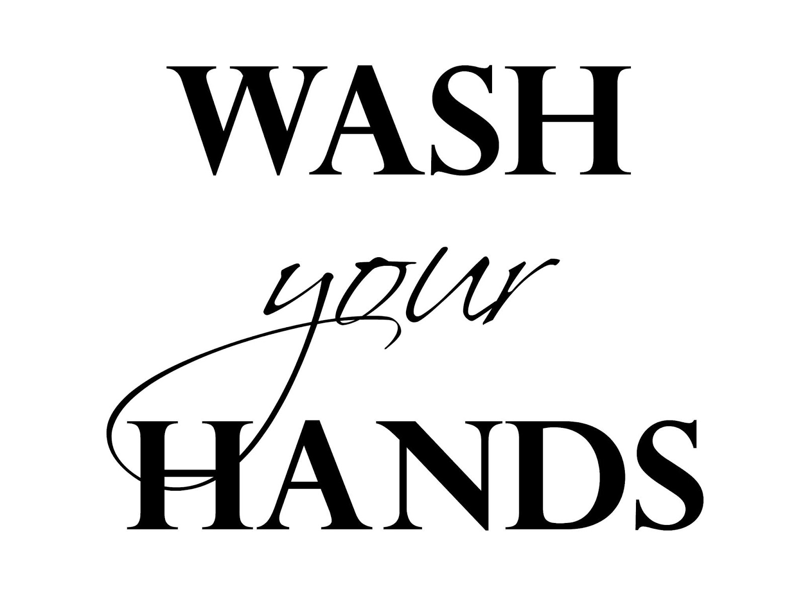 wash your hands free printable