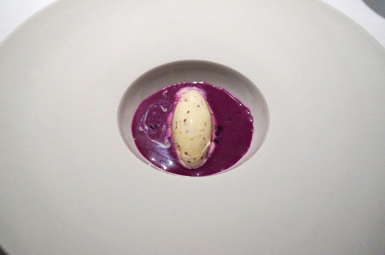 Euriental | the Fat Duck, Bray, by Heston Blumenthal. Red cabbage gazpacho.