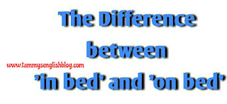 The Difference between 'in bed' and 'on bed'.