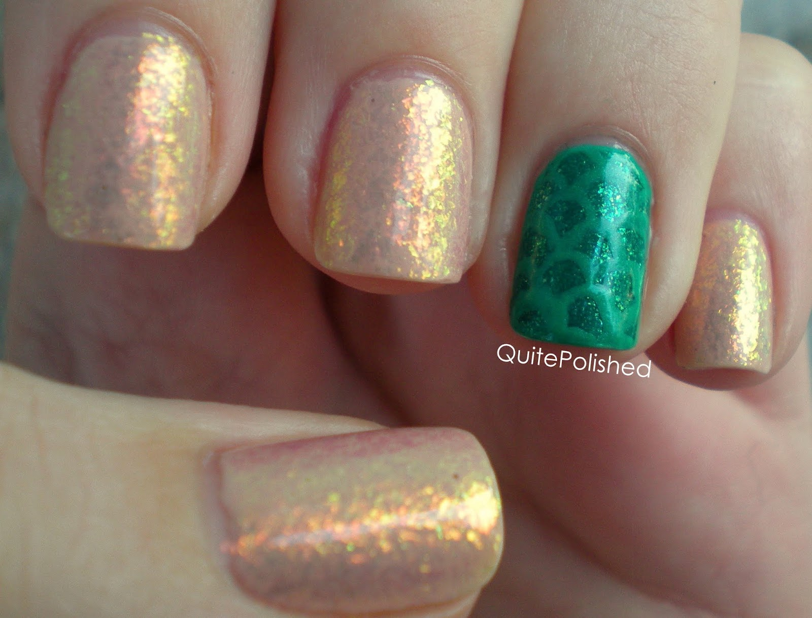 Quite Polished Mermaid Nails A Mini Lesson In Photographing Flakies