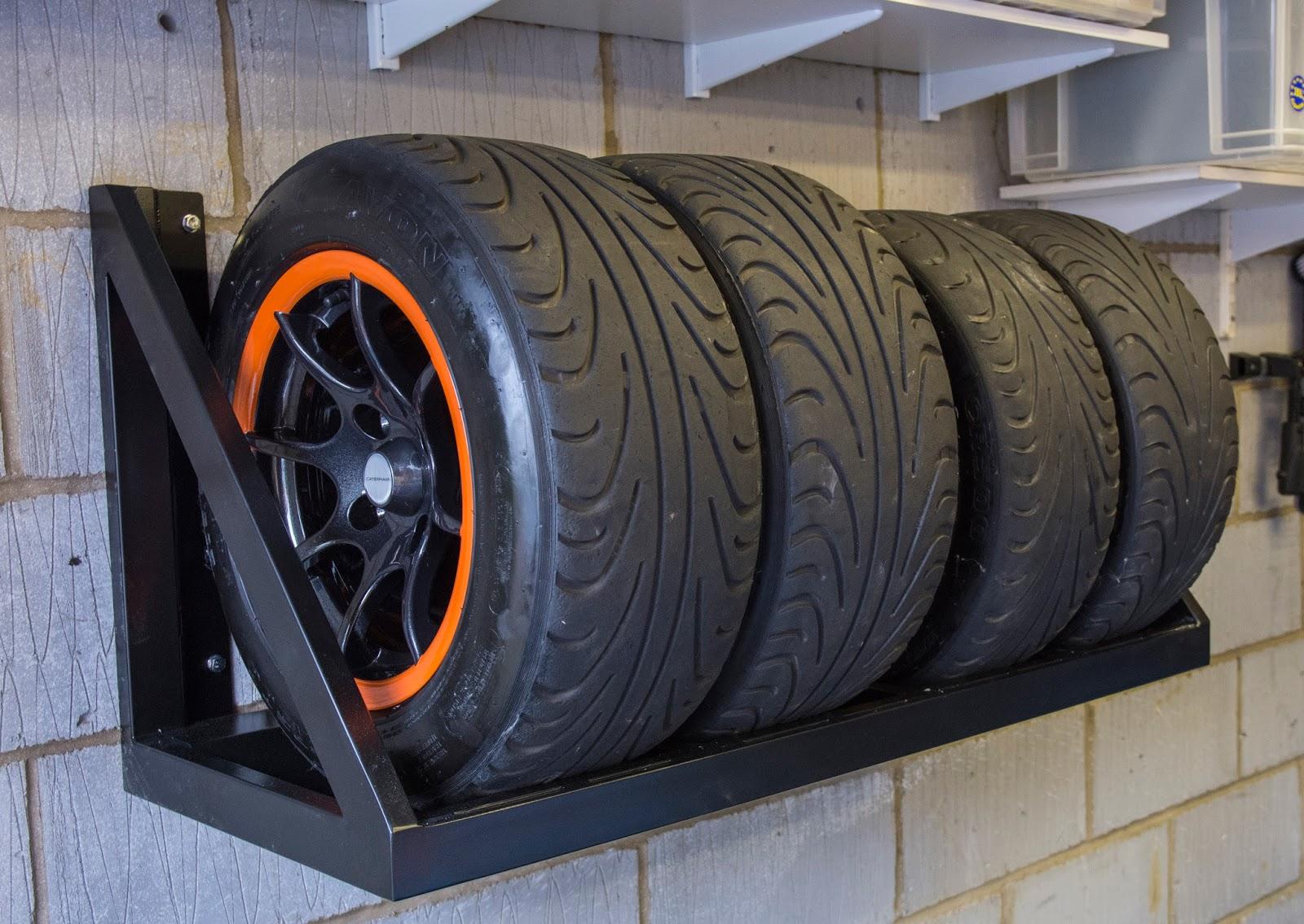 caterham r500 and academy racing wall mounted wheel rack