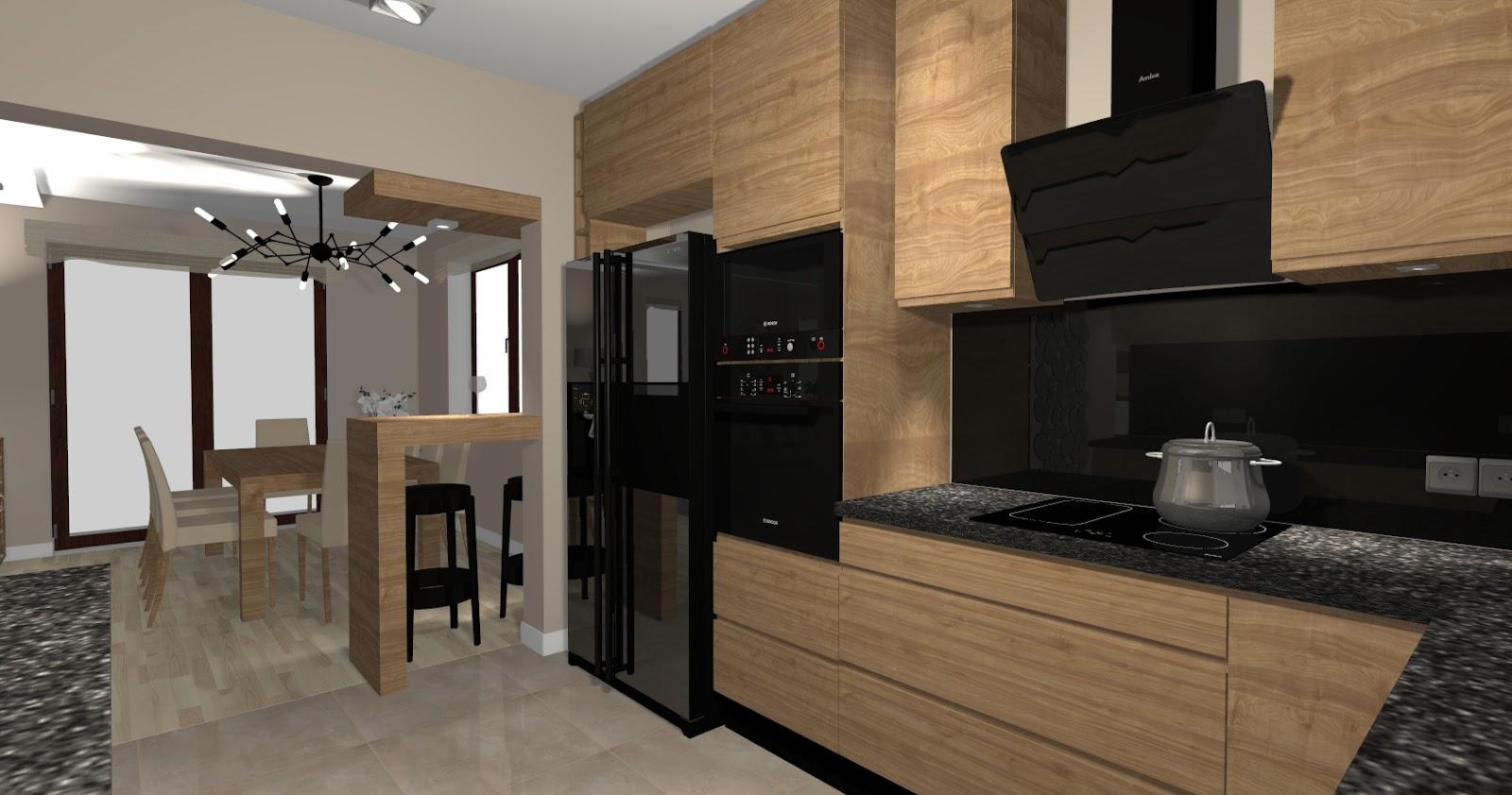 Pracownia Wnętrz Kuchnia w fornirze -> Kuchnia W Fornirze