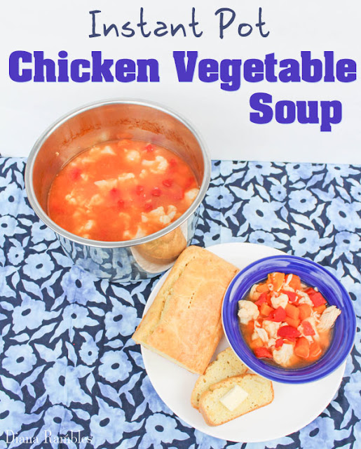 Instant Pot Chicken and Vegetable Soup #Soups #recipes #chickensoups