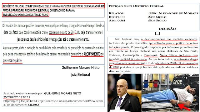 BOMBA!! Ministro do STF põe fake News (falsa notícia) em despacho para manter jornalista preso - Veja a prova!!