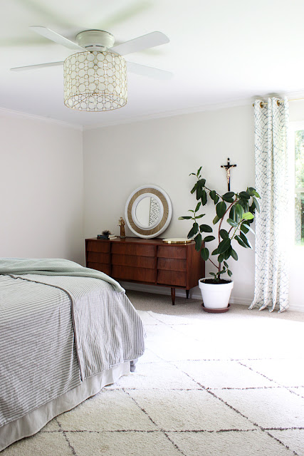A Shady Master Bedroom Update - Bean In Love