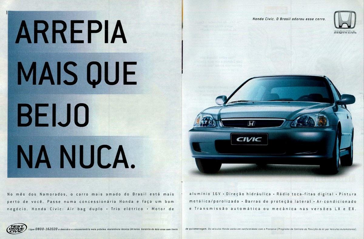 Propaganda da Honda promovendo o Civic no ano 2000