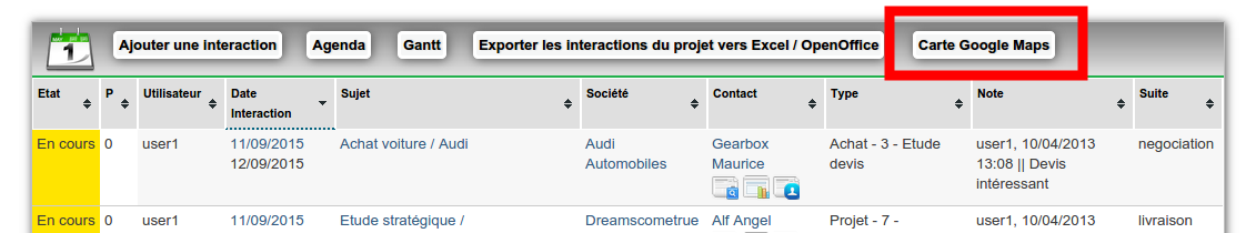 comment utiliser simple crm    comment obtenir une carte