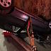 Veículo bate em barranco e capota em alça de acesso a rodovia