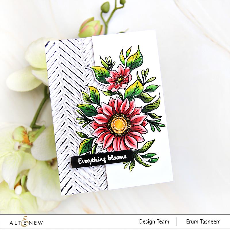 Altenew Blossom and Bloom Stamp Set | Erum Tasneem | @pr0digy0