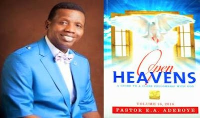 Open Heavens Daily Devotional written by Pastor E.A Adeboye