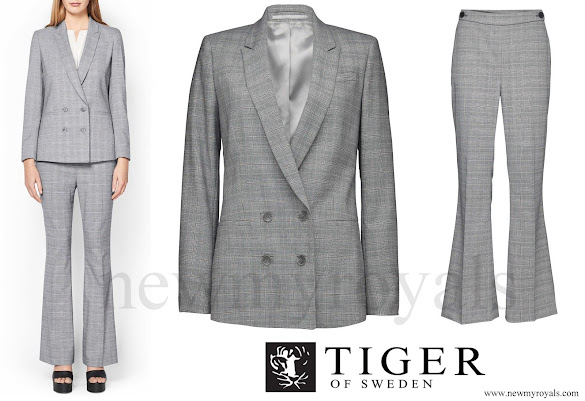 Crown Princess Victoria wore Tiger of Sweden Chela Blazer and Brite Trousers