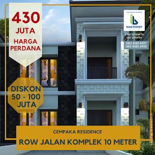 Jual Rumah Harga Perdana, Pasti Untung, Cempaka Residence Di Jl. Cempaka Gaperta Ujung Medan