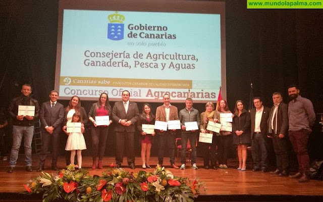 Productores palmeros galardonados en Agrocanarias 2017