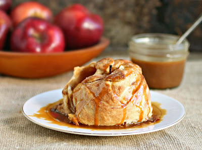 Apple Dumplings with Salted Caramel Sauce
