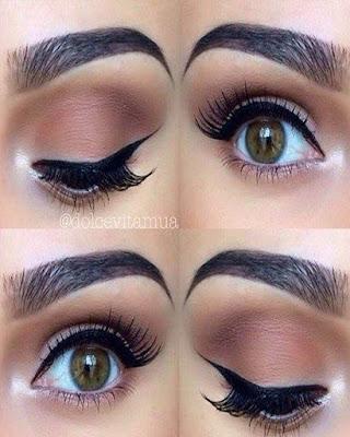Brown natural day makeup