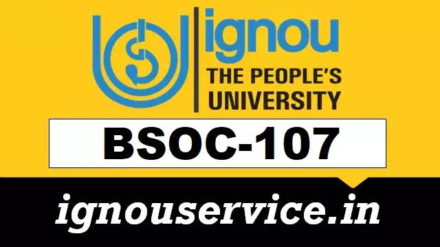 BSOC-107 Solved Assignment Hindi Medium 2020-21