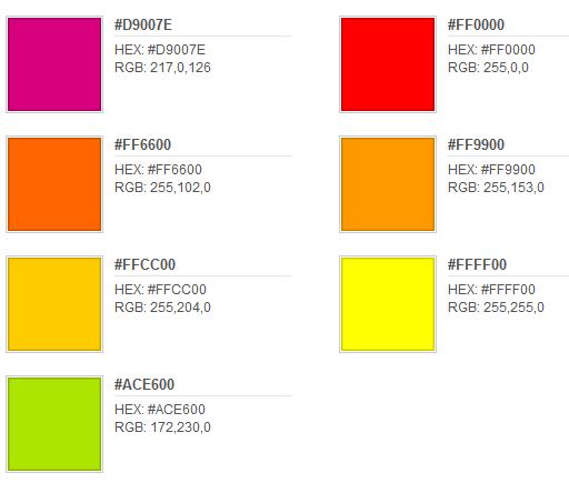 Sobre colores colores c lidos - Gama de colores calidos ...