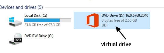 mounted virtual drive