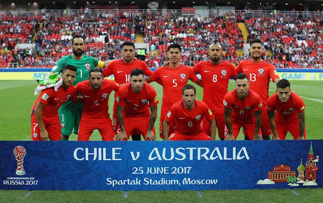 Formación de Chile ante Australia, Copa Confederaciones 2017, 25 de junio