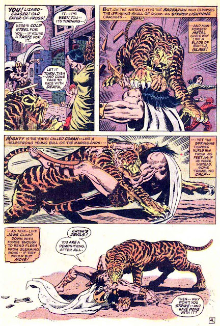 Conan the Barbarian v1 #5 marvel comic book page art by Barry Windsor Smith