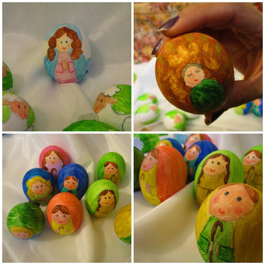 Calendario de adviento con cascarones de huevo