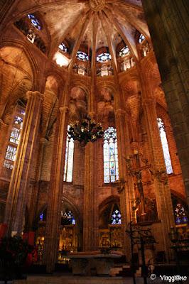 Interno della Cattedrale de la Seu nel Barrì Gotic