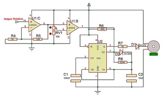 Implementasi sensor Gas TGS2610 dengan motor servo