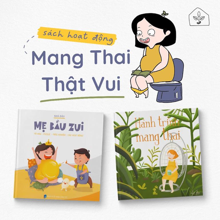 [A116] Sách tô màu Ngày Ta Gặp Con - Mẹ Bầu Zui