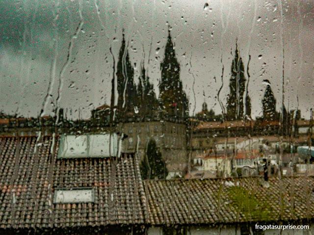 Chuva em Santiago de Compostela