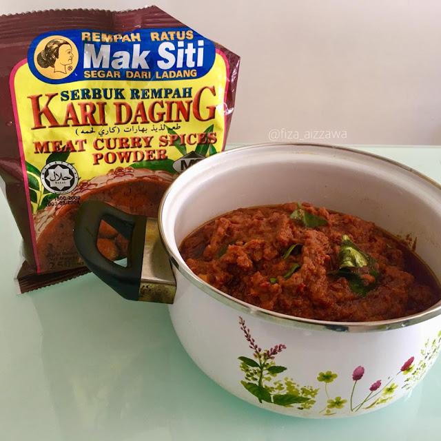 resipi rendang daging menggunakan serbuk rempah kari daging mak siti Resepi Ayam Goreng Serbuk Kari Enak dan Mudah