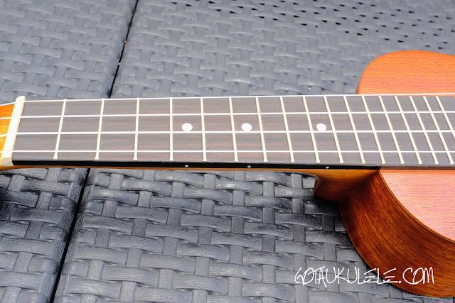 Islander MS-4 Soprano Ukulele neck