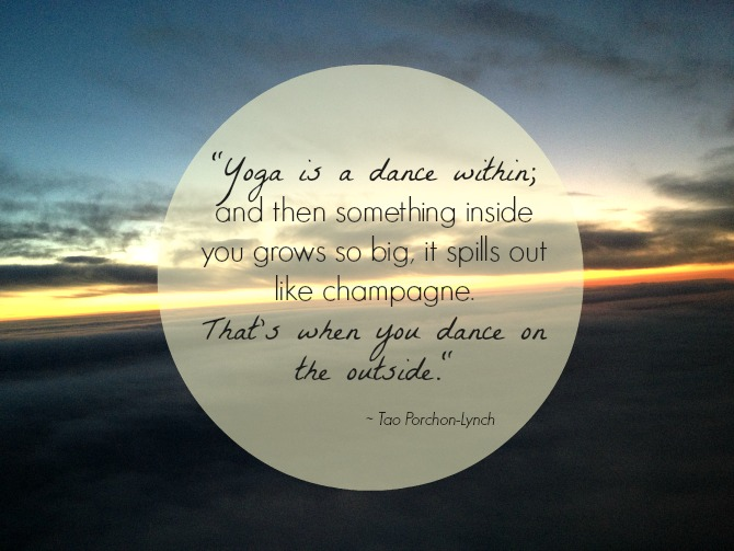 Yoga is a dance within