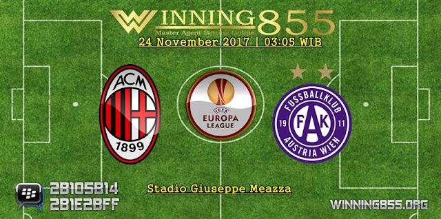 Prediksi Akurat Milan vs Austria Wien 24 November 2017