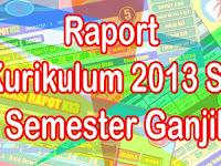 Kumpulan Aplikasi Raport K13 SD Semester Ganjil Tahun 2019 Mudah Penggunaan