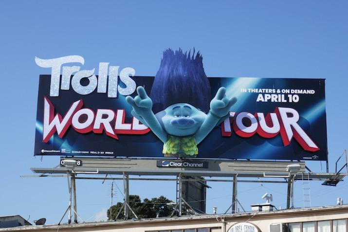 Trolls World Tour 3D movie billboard