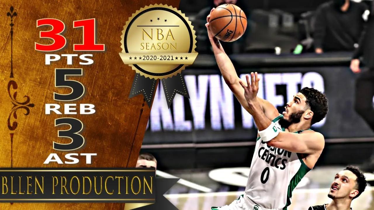 Jayson Tatum 31pts 5reb vs BRK | March 11, 2021 | 2020-21 NBA Season