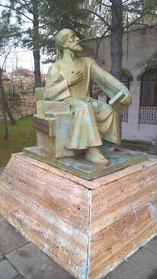 Yunus Emre heykeli - Eskişehir, Sivrihisar