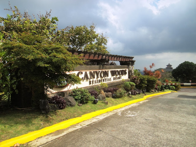Canyon Woods main entrance along Laurel road, Batangas