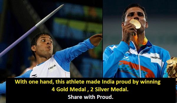 Devendra Jhajharia with one Hand