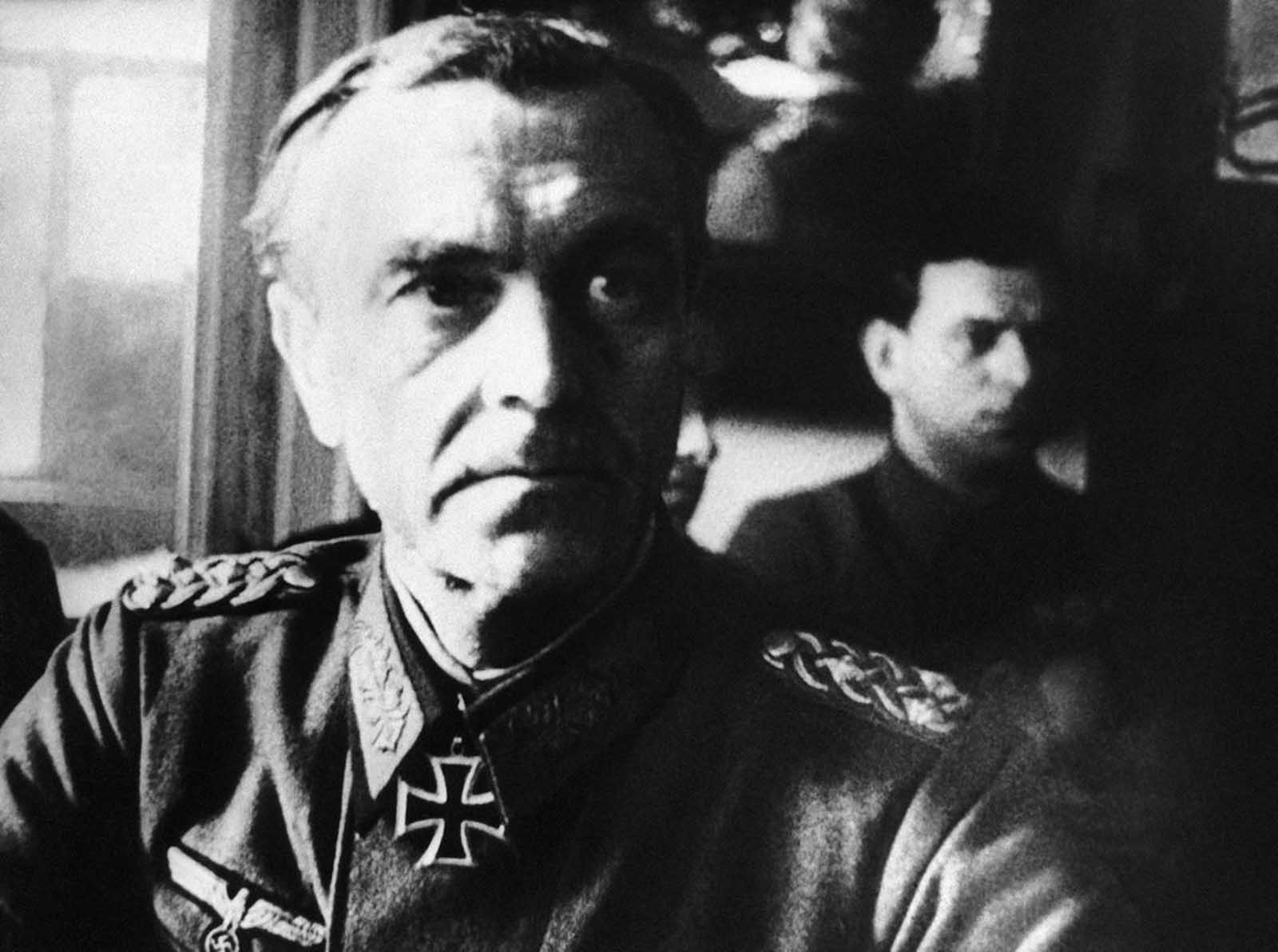 Germany's Field Marshal Friedrich Paulus at Red Army Headquarters for interrogation at Stalingrad, Russia, on March 1, 1943. Paulus was the first German Field Marshal taken prisoner in the war, defying Hitler's expectations that he fight until death (or take his own life in defeat). Paulus eventually became a vocal critic of the Nazi regime while in Soviet captivity, and later acted as a witness for the prosecution at the Nuremberg trials.