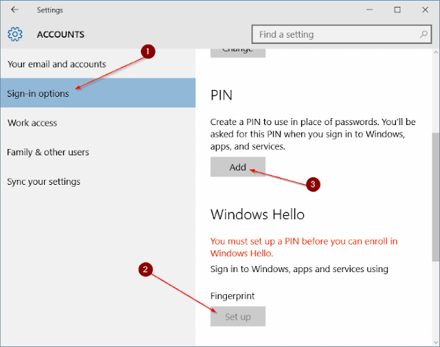 Use fingerprint to sign in to Windows 10 4 thumb