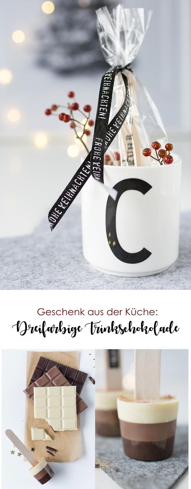Genuss in der Tasse: Dreifarbige Trinkschokolade als Weihnachtsgeschenk