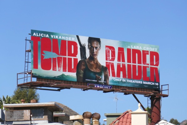 Tomb Raider movie reboot billboard