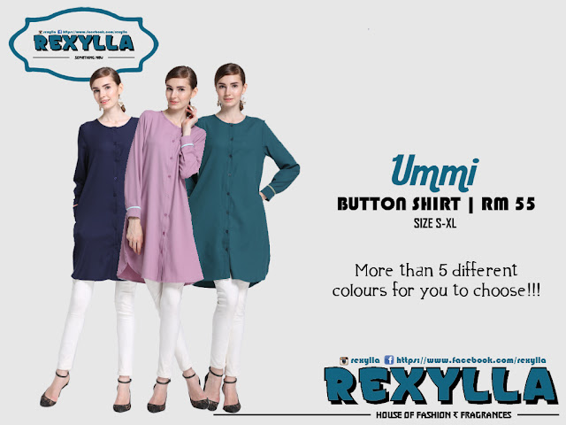 rexylla, joint colour, button shirt, ummi collection