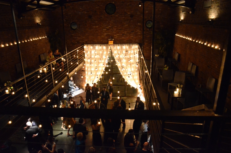 Universal Light and Sound - Recent Events: Vertical Curtain of String Lights - The Foundry ...