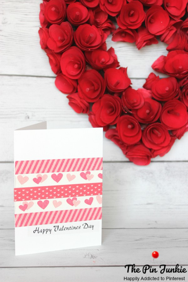 Washi Tape Valentine Card