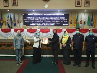 DPRD Lampung Sidang Pari Purna KUPA Dan PPAS