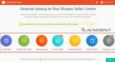 cara menggunakan shopee seller center